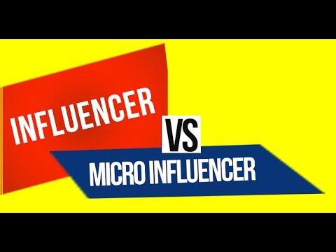 Influencers vs microinfluencers